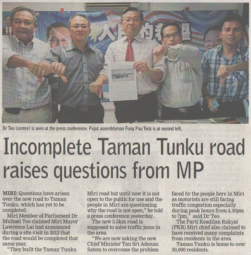 Extract from The Borneo Post, 5th March issue.